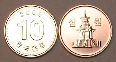 2008 South Korea 10 Won Coin BU Very Nice  KM# 103