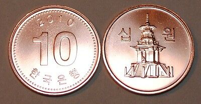 2010 South Korea 10 Won Coin BU Very Nice  KM# 103