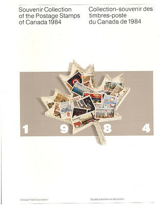 1984 Annual Collection Canada Stamps Unsealed