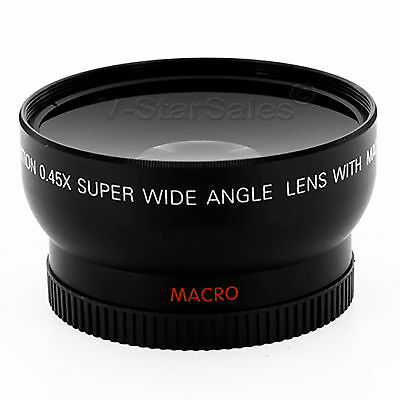 58mm 0.45X WIDE Angle LENS for Canon EOS 500D Rebel T1i T2i T3i