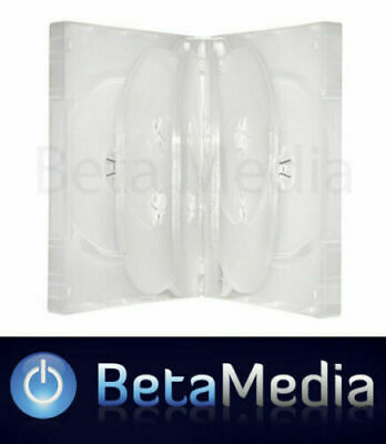 10 x Clear 33mm ** HOLDS 10 Discs ** Quality CD / DVD Cover Cases