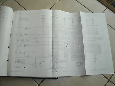 1986 ford cargo truck oem 12 x 25 foldout binder wiring diagram set