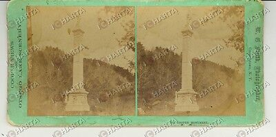 1890 COOPERSTOWN (USA) Cooper monument - Stereoscopy SMITH