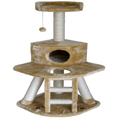 """50"""" Cat Tree House Toy Bed Scratcher Post Furniture F51"""