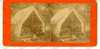 1880 EAST BROOKFIELD (USA) Camping out - Stereoscopy