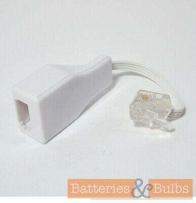 BT Socket to RJ11 4 Pin Telephone Plug Modem Cable Adaptor Converter