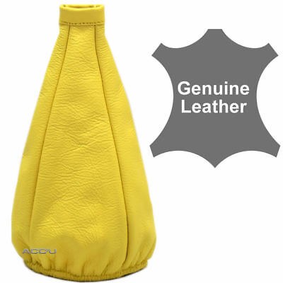 Cosmic Racing Car Genuine Leather Elasticated Yellow Gearshift Gear Shift Gaiter