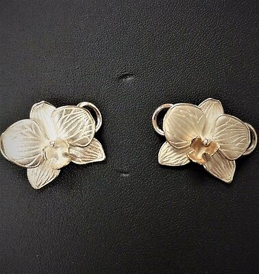 NEW 925 silver 14K Convertible Hibiscus LeStage Flower Bracelet made U.S.A USA