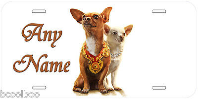 Chihuahua Pair Tag Novelty Any Name Personalized Car Auto License Plate A3