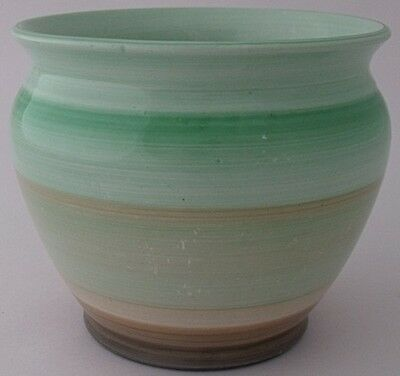 Stylish Small Shelley Pot With Banded Design - Art Deco