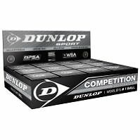 12 Dunlop Competition Single Yellow Squash Balls Wsf Ap