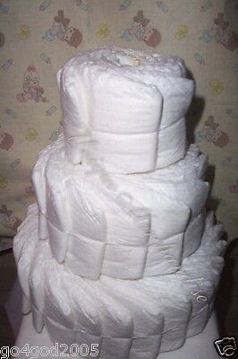L@@K....UNDECORATED 3 tier diaper cake