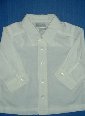 Boys White Dress Shirts Long, Short Sleeve TCP Happy Fella Baby Togs Silver Suit