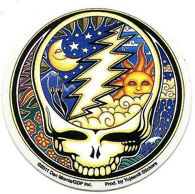 GRATEFUL DEAD night/day steal your face (small) STICKER *Free Shipping* ja474-y
