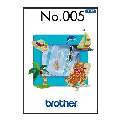 Brother Embroidery Sewing Machine Memory USB Stick BLECUSB5 Summer Collection