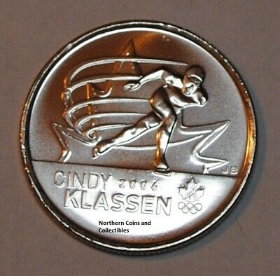 Canada 2009 25 cents Cindy Klassen Nice UNC from roll - BU Canadian Quarter