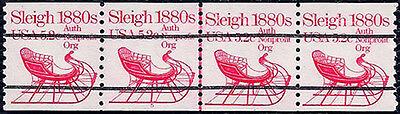 PNC #1900a #5 MNH 5.2c SLEIGH Strip of 4