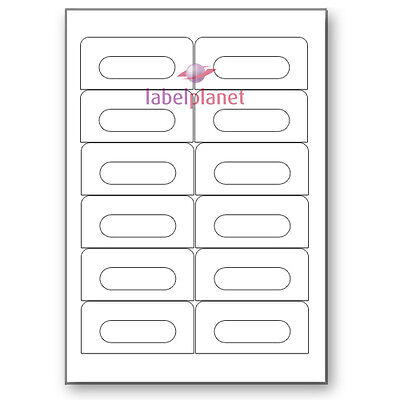 12 Per Page White A4 Self-Adhesive Audio Cassette Media Labels Label Planet®