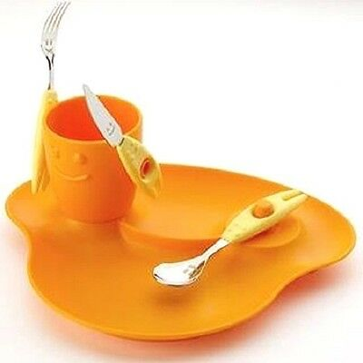 Orange and Yellow Trebimbi Cutlery Set for Kids by Clever Little Ideas
