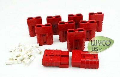 Anderson Connector Sb50, #6Awg, Small Red, Lot Of 10, Scrubbers, Fast Ship!