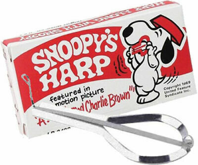 SNOOPY JAW HARP Nickel Plated Steel *New* Made In USA Boxed With Instructions