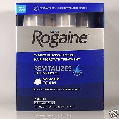 Rogaine 5% Minoxidil Unscented Foam for Men 4 Month Supply