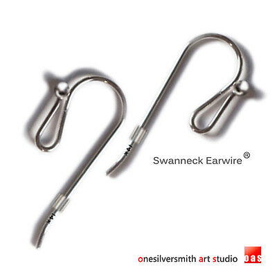 Solid 14k  18k Gold Silver - All Purpose Earwire Hook   No Tools Needed