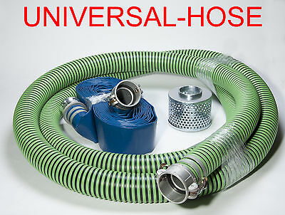 "2"" Trash Pump Hose Water Suction Discharge Camlock Kit #47"