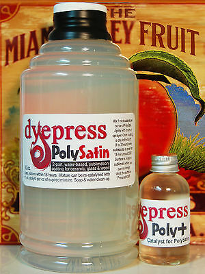 DyePress PolySatin Dye Sublimation Coating - Ceramic Wood & Stone -32 oz. (PS32)