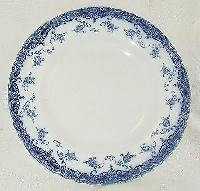 AS IS ANTIQUE 1907 MEAKIN OLYMPIA Flow Blue SALAD PLATE English Staffordshire