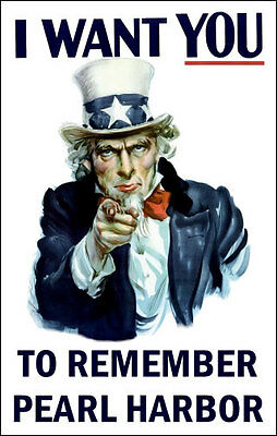 Uncle Sam Remember Pearl Harbor - 1942 WWII Poster