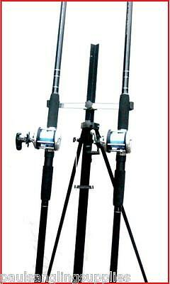 2 x 12 ft NGT Rods & Multiplier  Reels & Tripod Beachcaster Sea Fishing