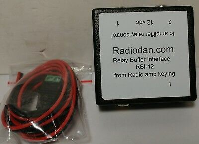 Amplifier keying relay buffer interface for TWO linear amp switching RBI-12