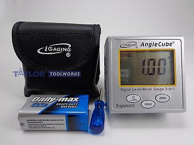 iGaging Angle Cube Digital Angle Protractor Gauge