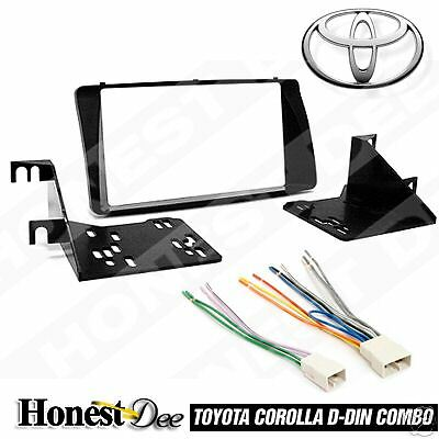 METRA 95-8204 CAR STEREO DOUBLE/D/2-DIN RADIO INSTALL DASH KIT COMBO FOR COROLLA
