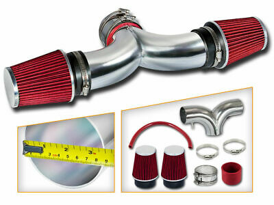 BCP RED 97-00 Corvette C5 5.7 V8 Dual Twin Air Intake System + Filter