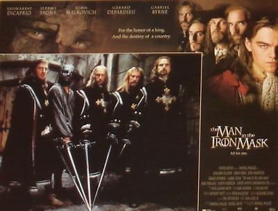 THE MAN IN THE IRON MASK - 11x14 Lobby Cards Set Leonardo DiCaprio, Jeremy Irons