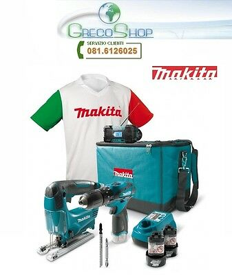 Kit Trapano avvitatore+Seghetto alternativo+Radio+Gift 10,8V Makita - DK1496X1