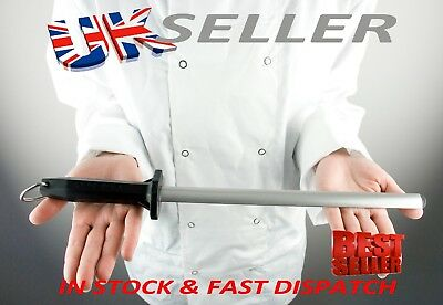 """12"""" Diamond Sharpening Steel. Commercial Quality. German Made"""