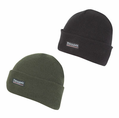 Jack Pyke Thinsulate Bob Hat in Hunters Green or Covert Black Warm Wooly Hats