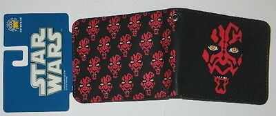 Star Wars Darth Maul Multiple Faces Leather Wallet, NEW UNUSED