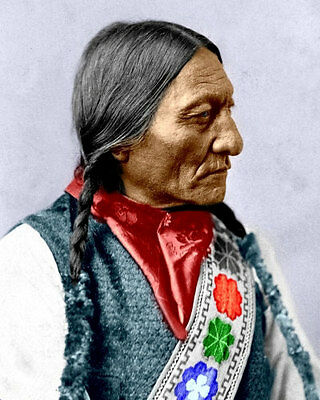 Sitting Bull #2 Photo 8X10  Sioux Indian 1885 COLORIZED