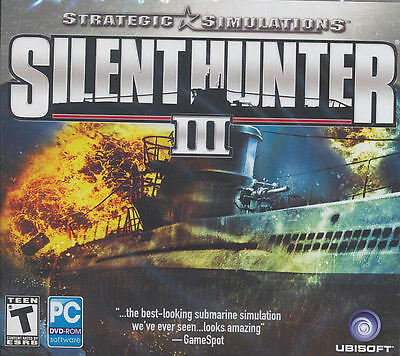SILENT HUNTER 3 III - WW2 Submarine Combat WWII U-Boat Simulation PC Game NEW!