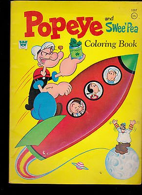 1970 Whitman Coloring Book- Popeye and Swee' Pea (#1007)