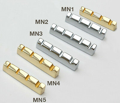 Brass & Chrome Acoustic Bass Electric Guitar Metal Nut  MN1,2,3,4
