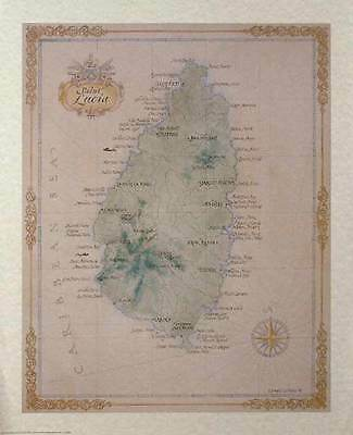 Antique style ST. LUCIA Map