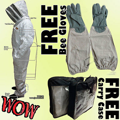 Pest Control, Beekeeping, Beekeepers Bee Suit FREE GLOVES & CASE Global Shipping