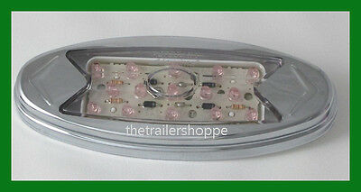 Maxxima Side Marker 15 LED light M27005Y Stainless Steel Chrome Red Clear Lens