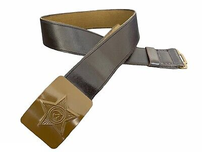 Soviet Russian USSR Military Army Soldier Belt Leather Imitation Metal Buckle