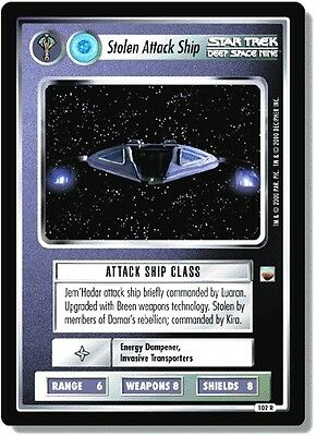 Star Trek CCG Trouble With Tribbles 102R Stolen Attack Ship NM-Mint
